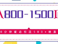 日赚800以上的暴利项目,被动引流300加的精准粉